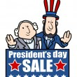Presidents Day Sale - Vector Illustration — Stock Vector