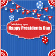 Happy Presidents Day Background Vector Illustration — Stock Vector