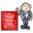 George Washington - Presidents Day Vector Illustration — Stock Vector