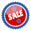 Sale Badge and Sticker for Various USA Nation Theme Holidays - Vector — Stock Vector