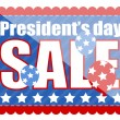 Sale Coupon in Stamp Shape - Presidents Day Vector Illustration — Stock Vector
