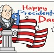 Постер, плакат: Presidents Day Background