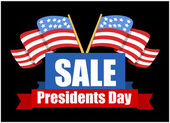 Sale Banner Design - Presidents Day Vector Illustration — Stock Vector