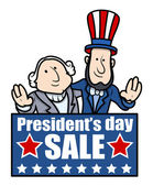 Presidents Day Sale - Vector Illustration — Stock Vector