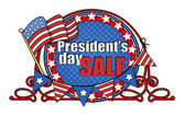 Big USA Patriotic Sale - Presidents Day Vector Illustration — Stock Vector