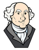 George Washington Vector Clip-art — Stock Vector
