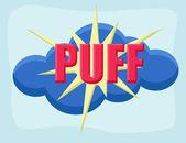 Puff - komiks kreskówka tło wektor — Wektor stockowy