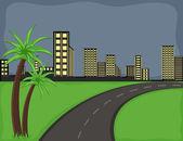 Road - Cartoon Background Vector — Stock Vector
