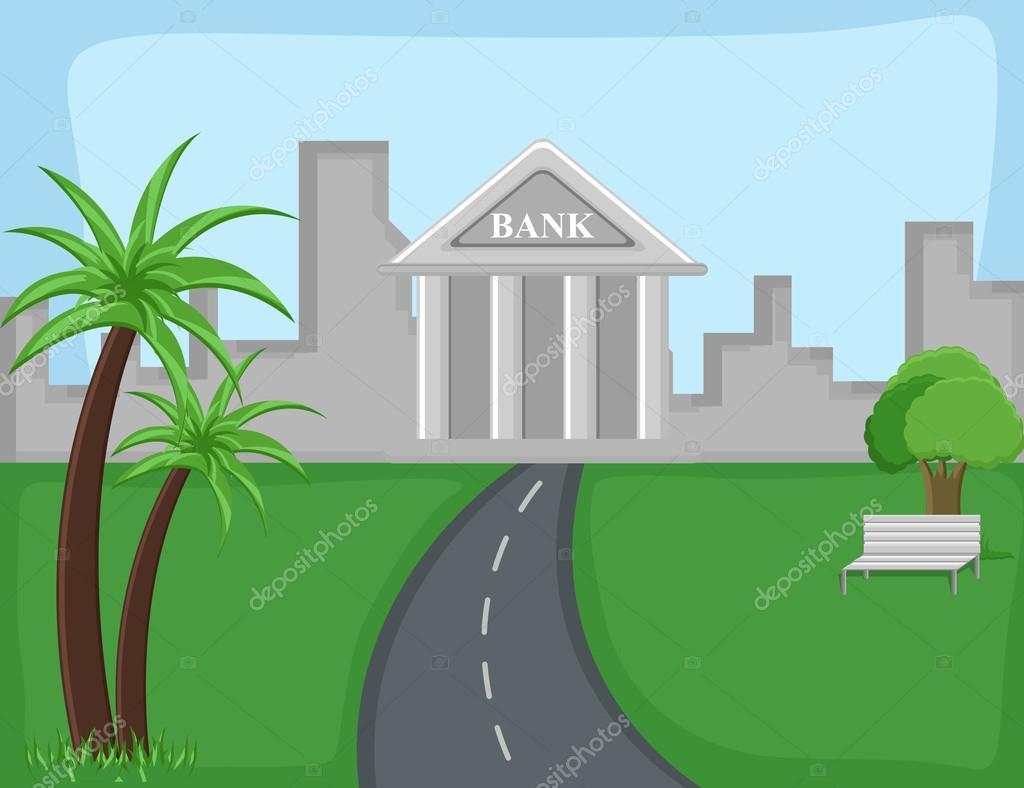 Bancos Dibujos Animados Dibujos Animados Banco