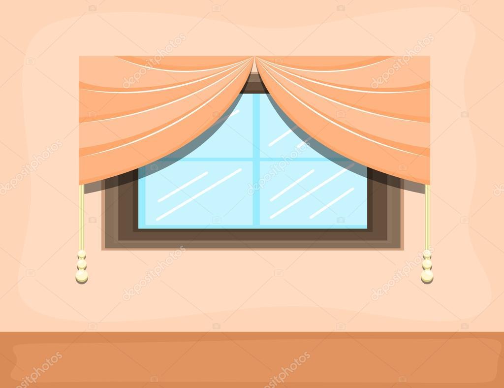 Ventana vector de fondo de dibujos animados vector for Diseno de interiores dibujos