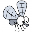 Cartoon mosquito - halloween vector illustration — Stock Vector