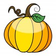 Glossy pumpkin vector illustration — Stock Vector
