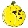 Funny jack o' lantern - halloween vector illustration — Stock Vector