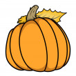 Pumpkin vector cartoon illustration — Stock Vector