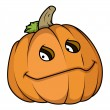 Smiling jack o' lantern - halloween vector illustration — Stock Vector