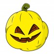 Wicked smiling jack o' lantern — Stock Vector
