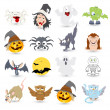 Halloween vector characters icons and illustrations — Stock Vector