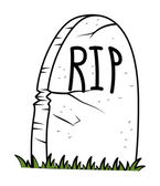 Rest in Peace - Cartoon Grave - halloween vector illustration — Stock Vector