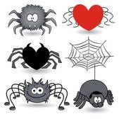 Set of spider cartoons vector — Stock Vector
