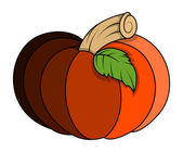 Pumpkin vector illustration — Vector de stock
