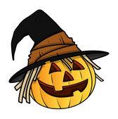ведьма джек-o ' фонарь - хэллоуин векторные иллюстрации — Cтоковый вектор
