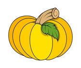 Jack o' lantern pumpkin - halloween vector illustration — Stock Vector