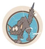 할로윈 키티 고양이 하 고 재미 있는 호박. 벡터 일러스트 레이 ...