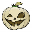 Funny old jack o' lantern - halloween vector illustration — Stock Vector