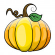 Pumpkin vector illustration — Stock Vector