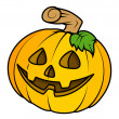 Cute jack o' lantern - Halloween vector illustration — Stock Vector