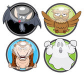 Halloween spooky badges vectors — Stock Vector