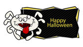Happy Halloween vector banner — Stock Vector