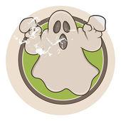 Vettore fantasma fumetto d'epoca — Vettoriale Stock