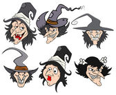 Cartoon witch vector illustrations — Stock Vector