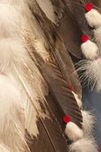 Red Indian Costume Wings — Stock Photo