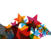 Colorful Christmas Stars Background — Stock Photo