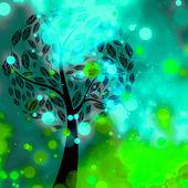 Decorative Sparkles Tree Background — Stock Photo