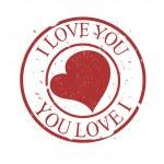 Abstract Grunge Valentine Stamp — Stock Vector #8385613