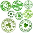 Patrick's Day Stamps — Stock Vector #9140873