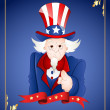 4th of July Uncle Sam Card — Stock Vector #9654414