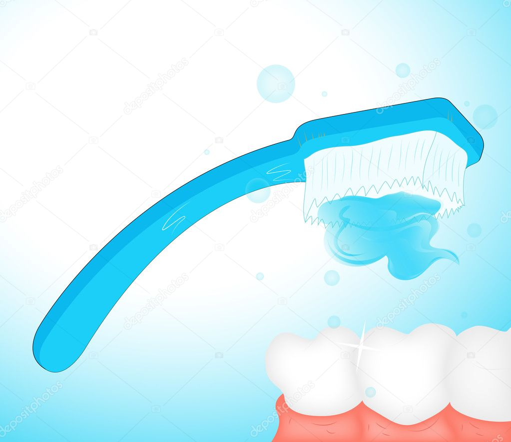 Clean Teeth Clipart Brushing teeth clip art