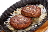 Fried meat cutlets close up — Stock Photo