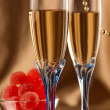 Royalty-Free Stock Photo: Christmas still life of two glasses of champagne