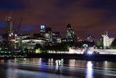 London 2012, City of London at dusk — Stock Photo