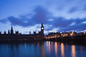 Unlit House of Parliament, London, UK — Stock Photo