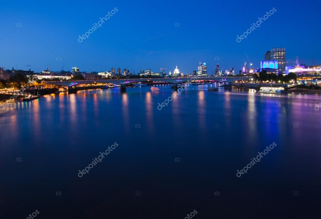 London, view over Thames towards St. Pauls and City of London  Stock Photo #12486214