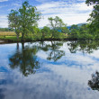 Scotland, summer landscape, river Lochay close to its confluenc — Foto Stock #12549606