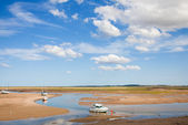Wells-next-the-Sea, low tide — Stock Photo