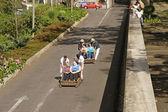 Madeira: Monte toboggan ride — Stock Photo