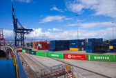 Container port in Las Palmas — ストック写真